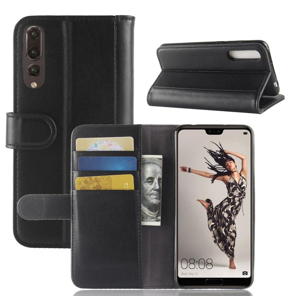 Aito Nahkakotelo Huawei P20 Pro musta
