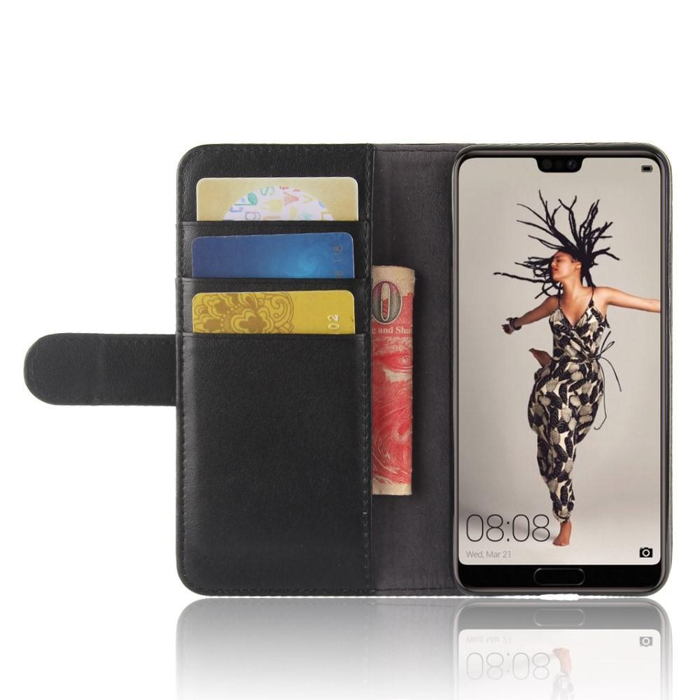 Aito Nahkakotelo Huawei P20 musta
