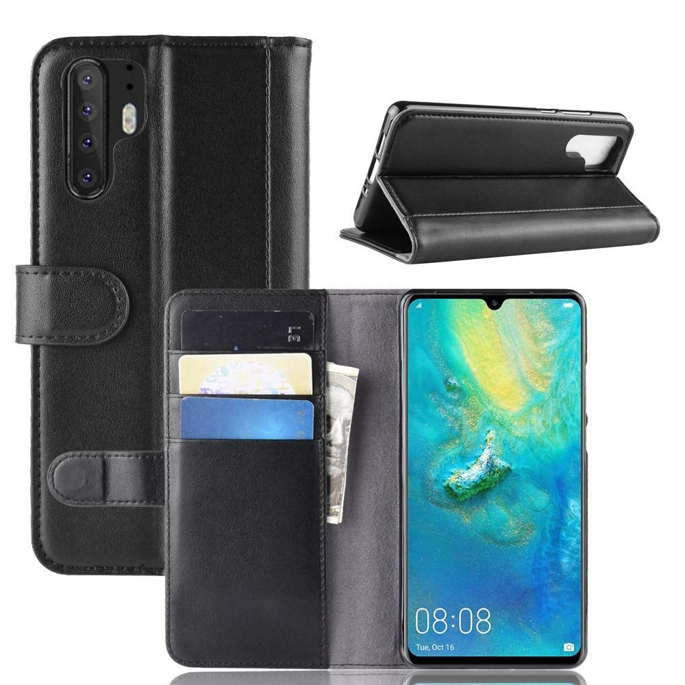 Aito Nahkakotelo Huawei P30 Pro musta