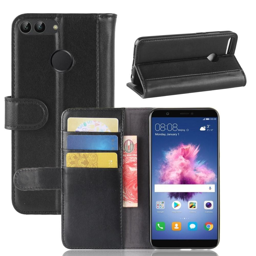 Aito Nahkakotelo Huawei P Smart musta