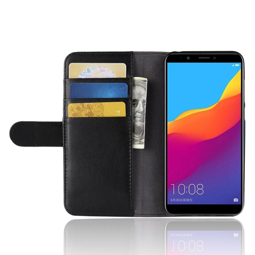 Aito Nahkakotelo Huawei Y6 2018 musta