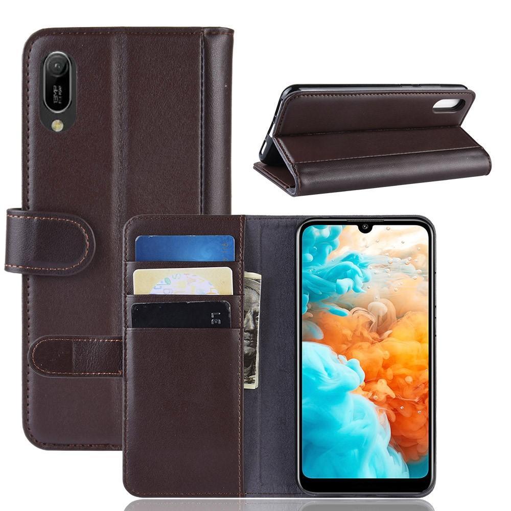 Aito Nahkakotelo Huawei Y6 2019 ruskea