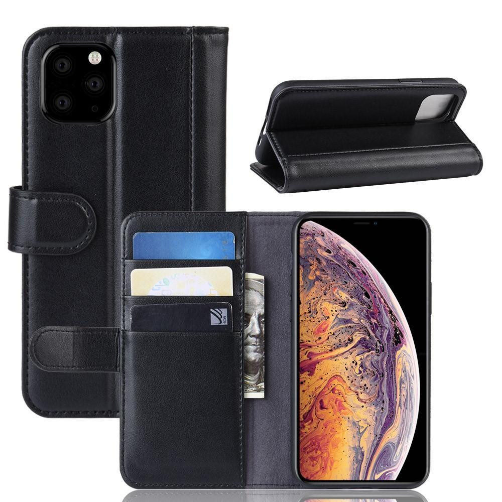 Aito Nahkakotelo iPhone 11 Pro Max musta