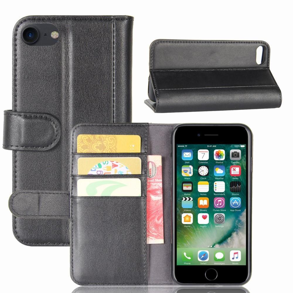 Aito Nahkakotelo iPhone 7/8/SE 2020 musta