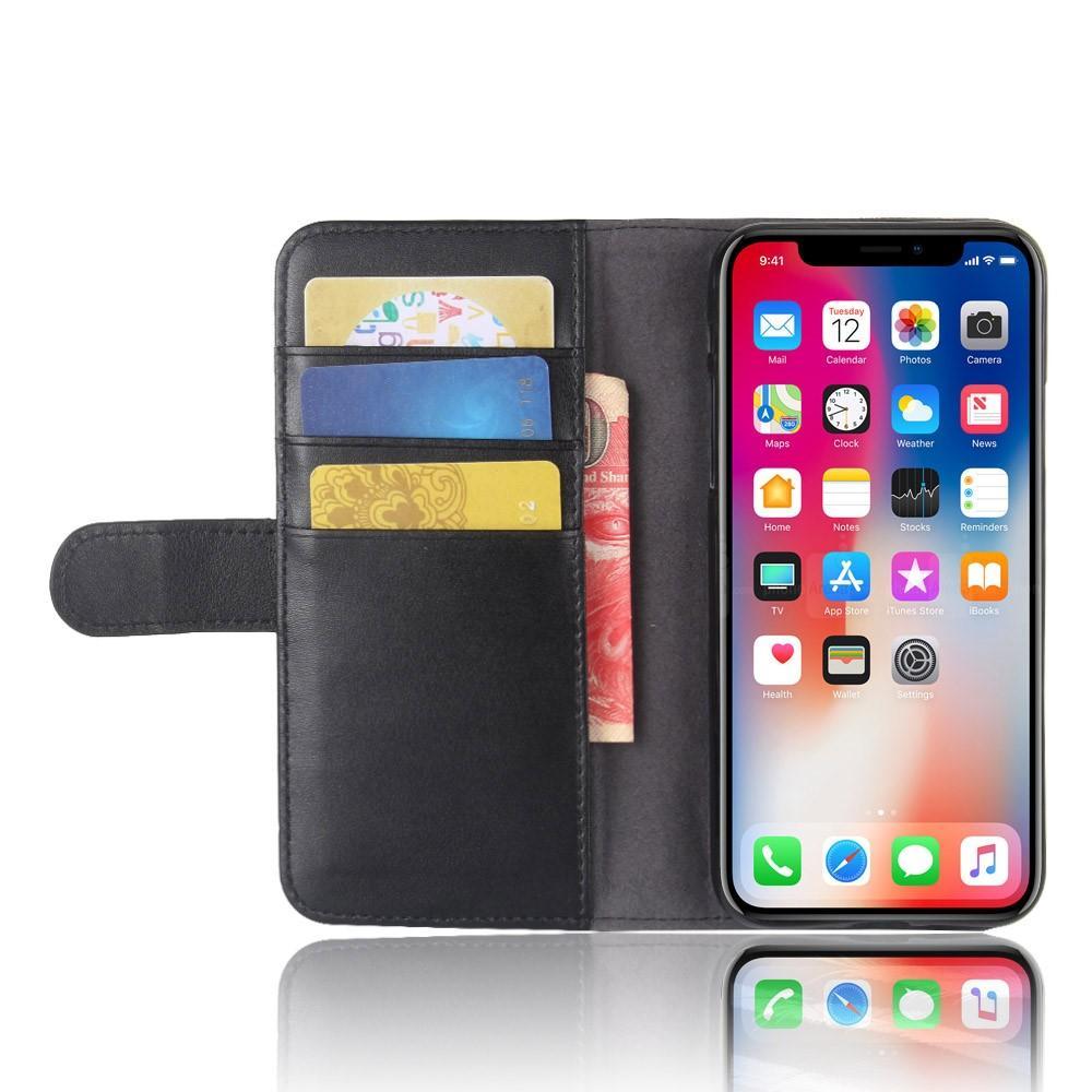 Aito Nahkakotelo iPhone X/XS musta