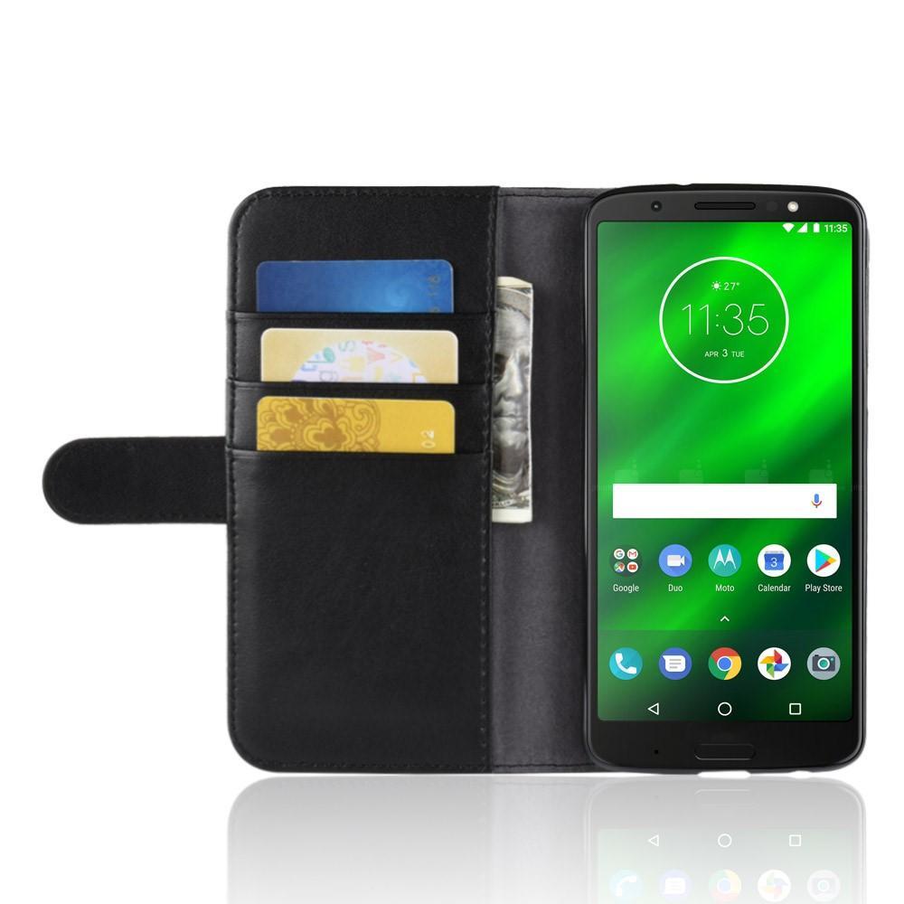 Aito Nahkakotelo Motorola Moto G6 Plus musta