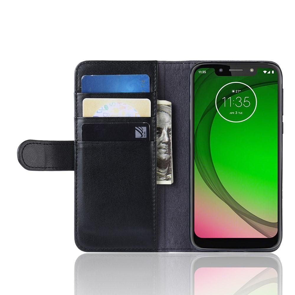 Aito Nahkakotelo Motorola Moto G7 Play musta