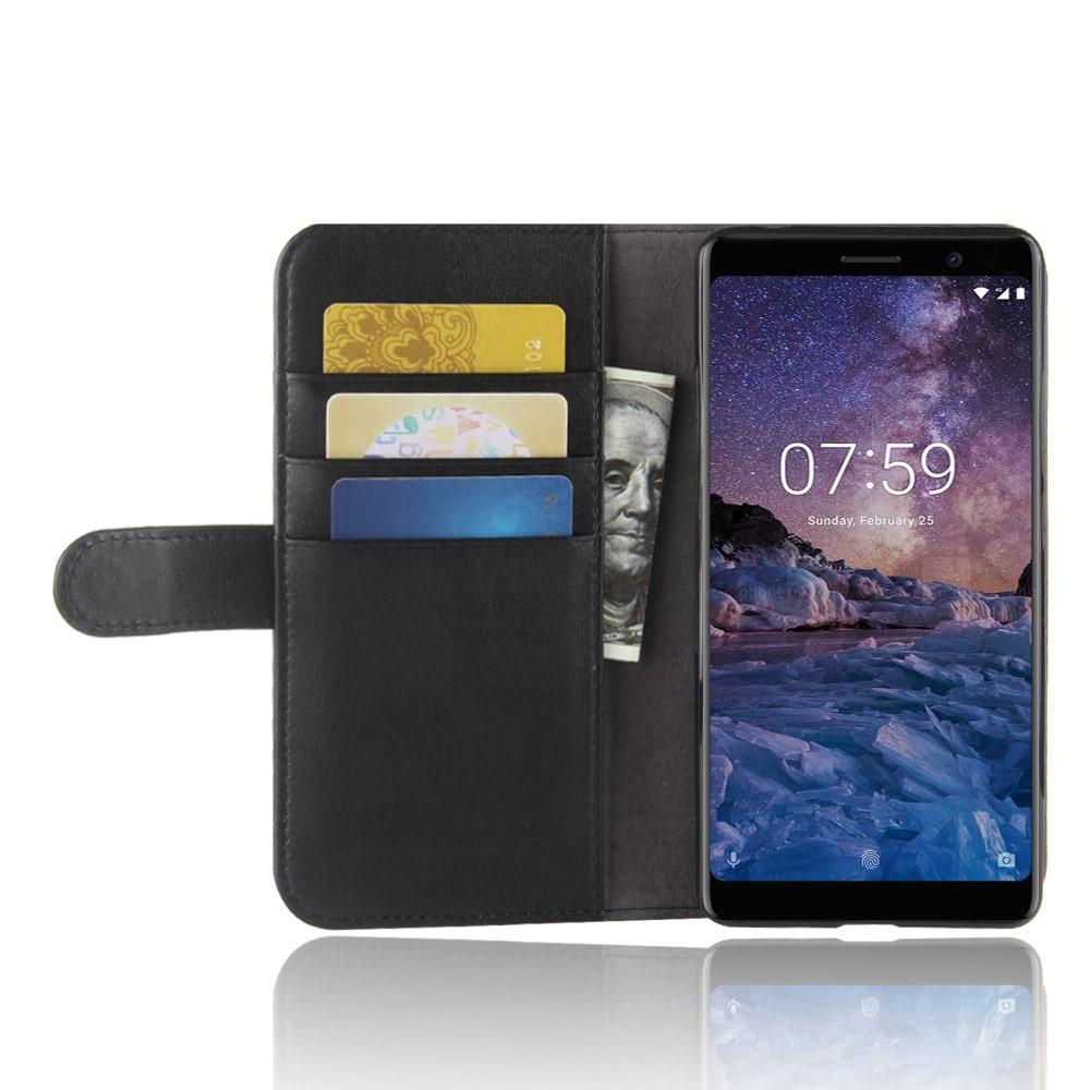 Aito Nahkakotelo Nokia 7 Plus musta