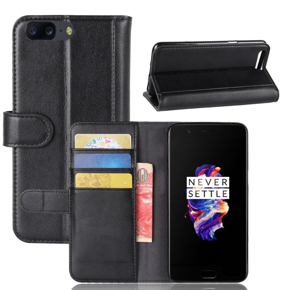 Aito Nahkakotelo OnePlus 5 musta