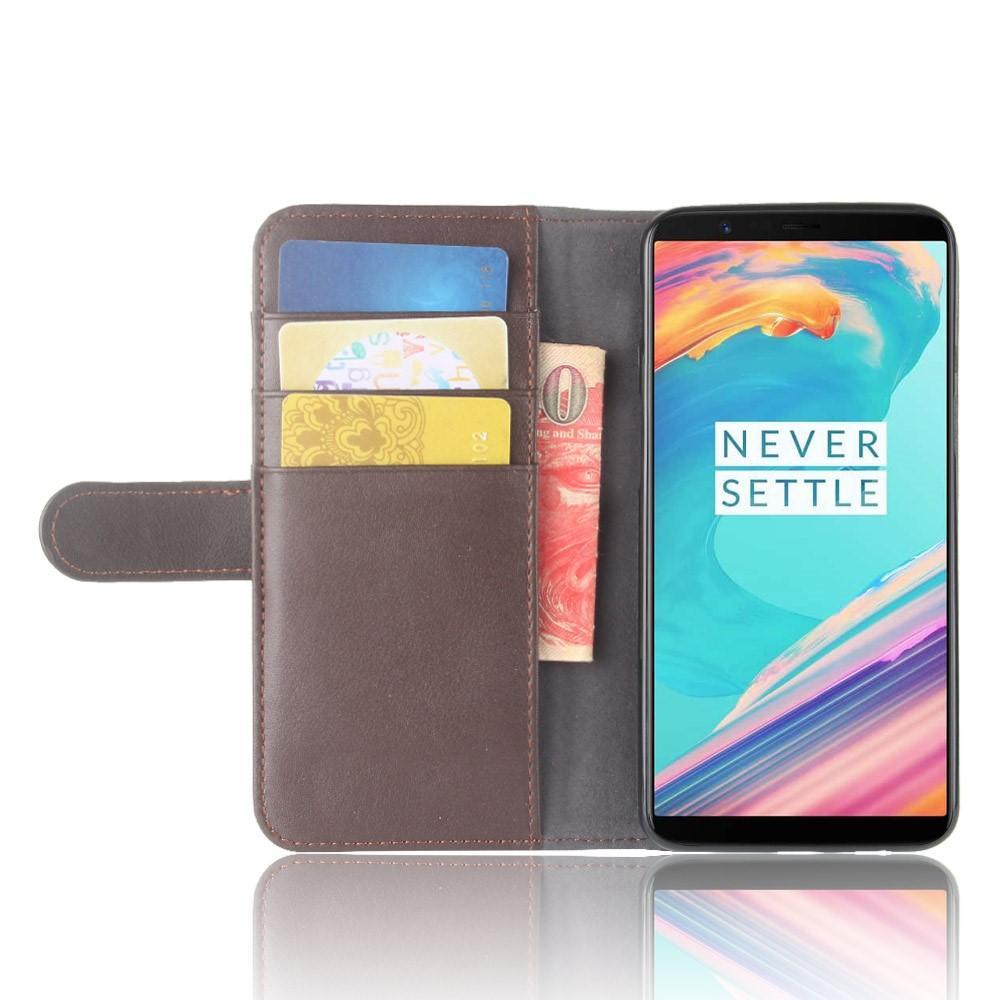 Aito Nahkakotelo OnePlus 5T ruskea