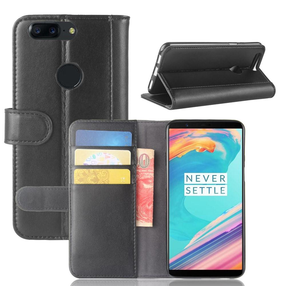 Aito Nahkakotelo OnePlus 5T musta