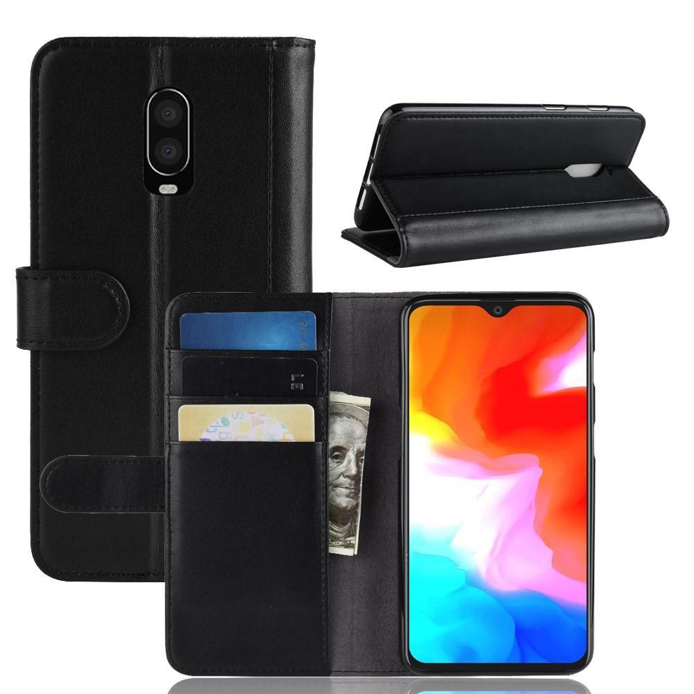 Aito Nahkakotelo OnePlus 6T musta