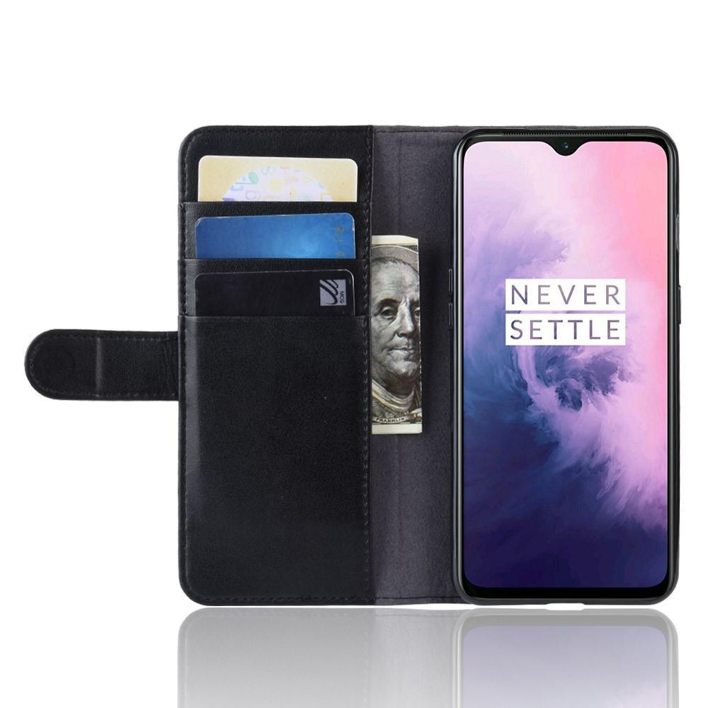 Aito Nahkakotelo OnePlus 7 musta