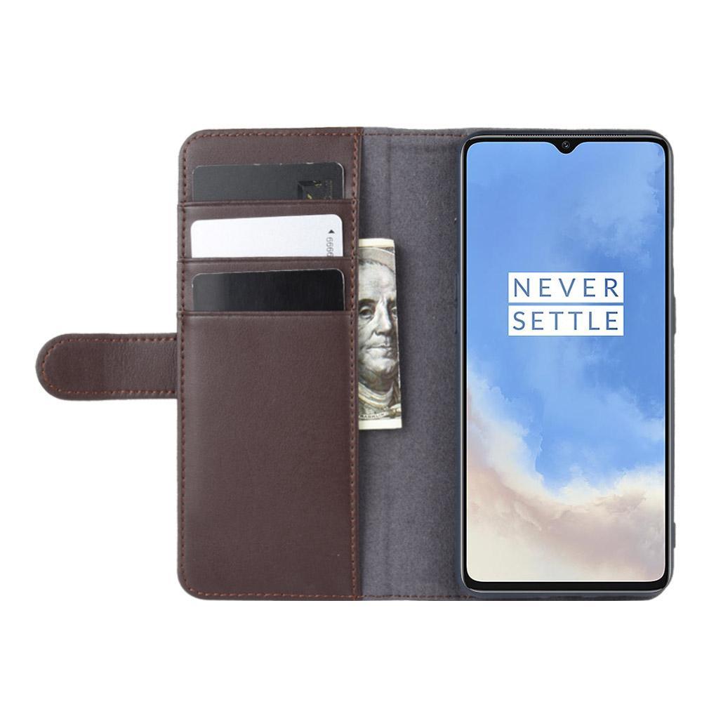 Aito Nahkakotelo OnePlus 7T ruskea