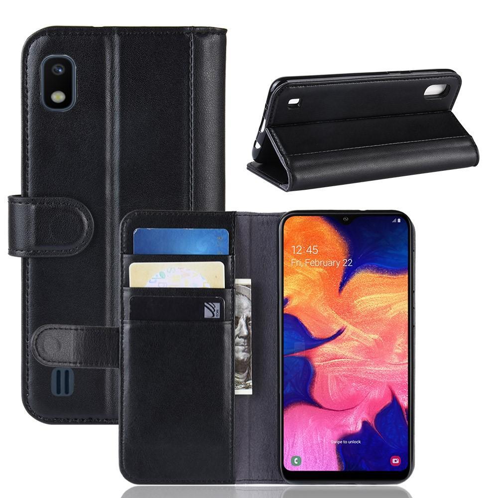 Aito Nahkakotelo Samsung Galaxy A10 musta