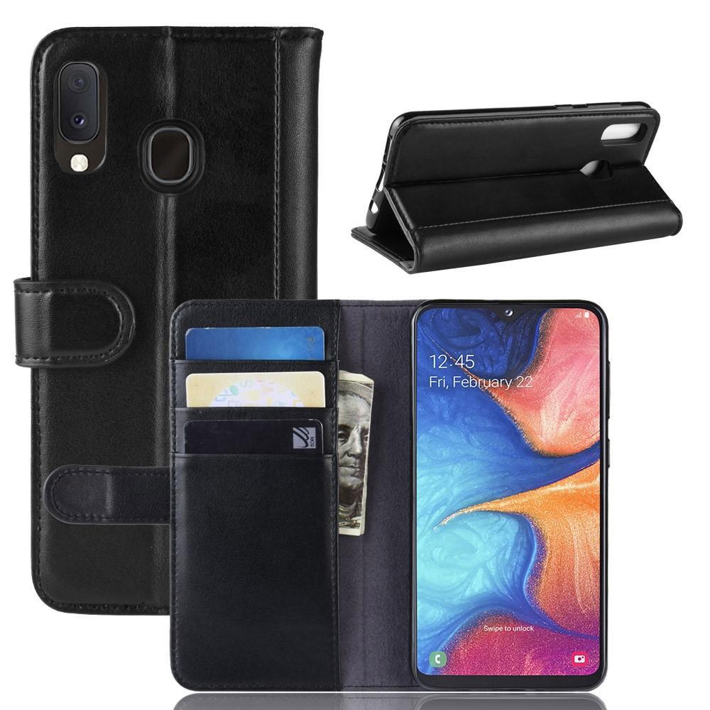 Aito Nahkakotelo Samsung Galaxy A20e musta