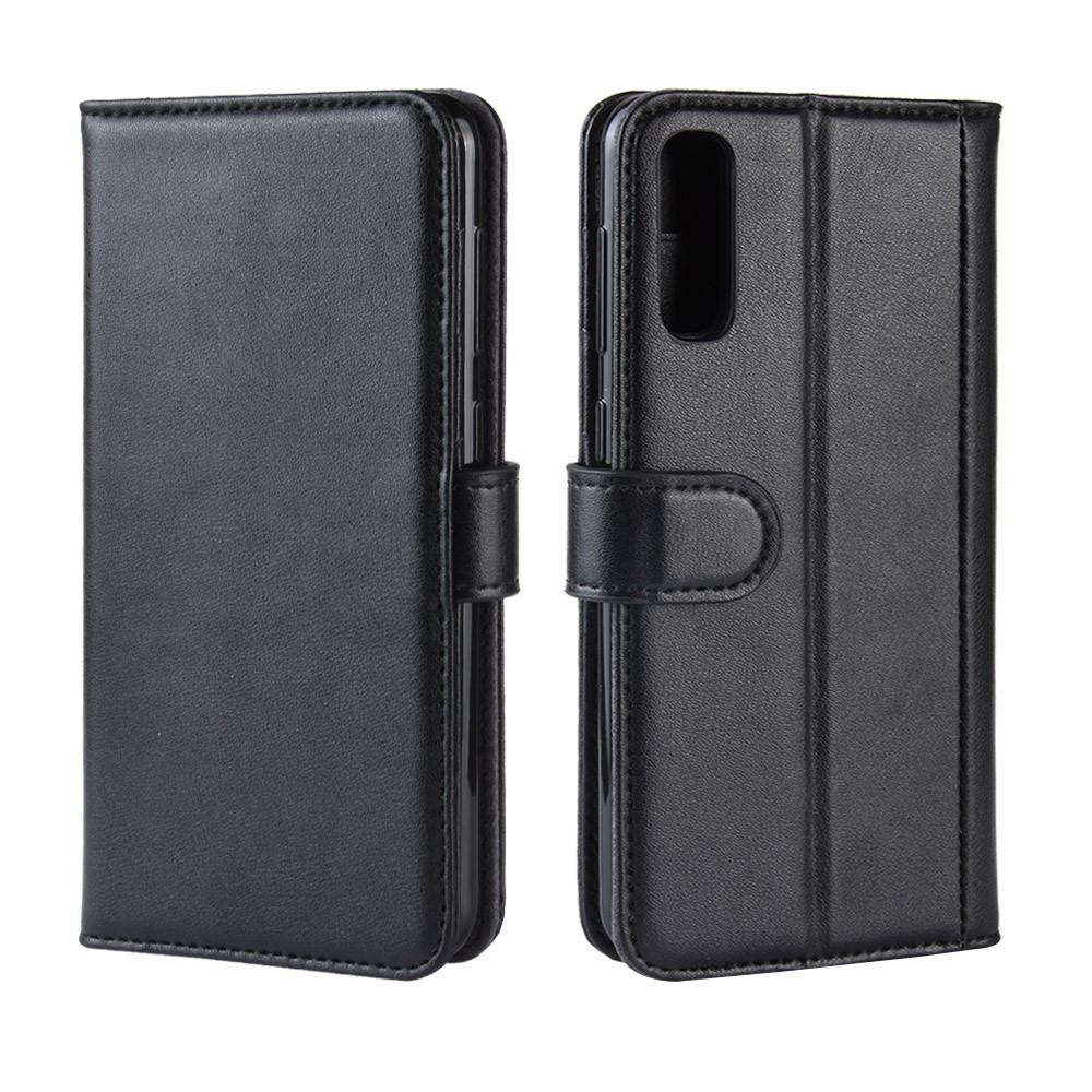 Aito Nahkakotelo Samsung Galaxy A50 musta