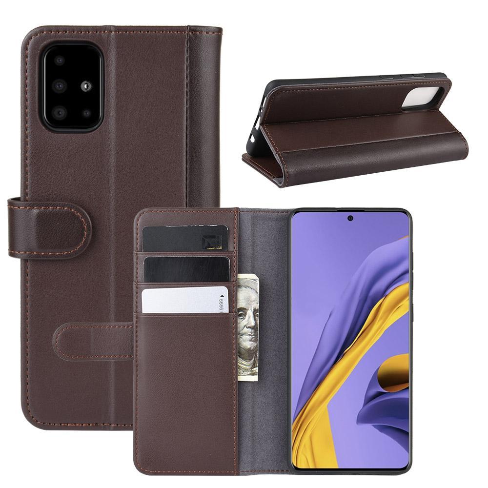 Aito Nahkakotelo Samsung Galaxy A51 ruskea