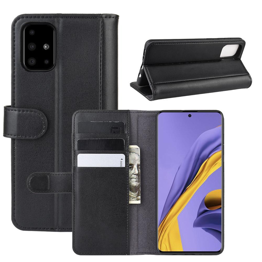 Aito Nahkakotelo Samsung Galaxy A51 musta