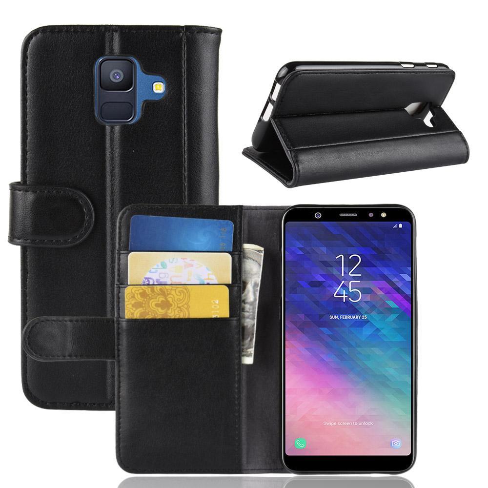 Aito Nahkakotelo Samsung Galaxy A6 2018 musta