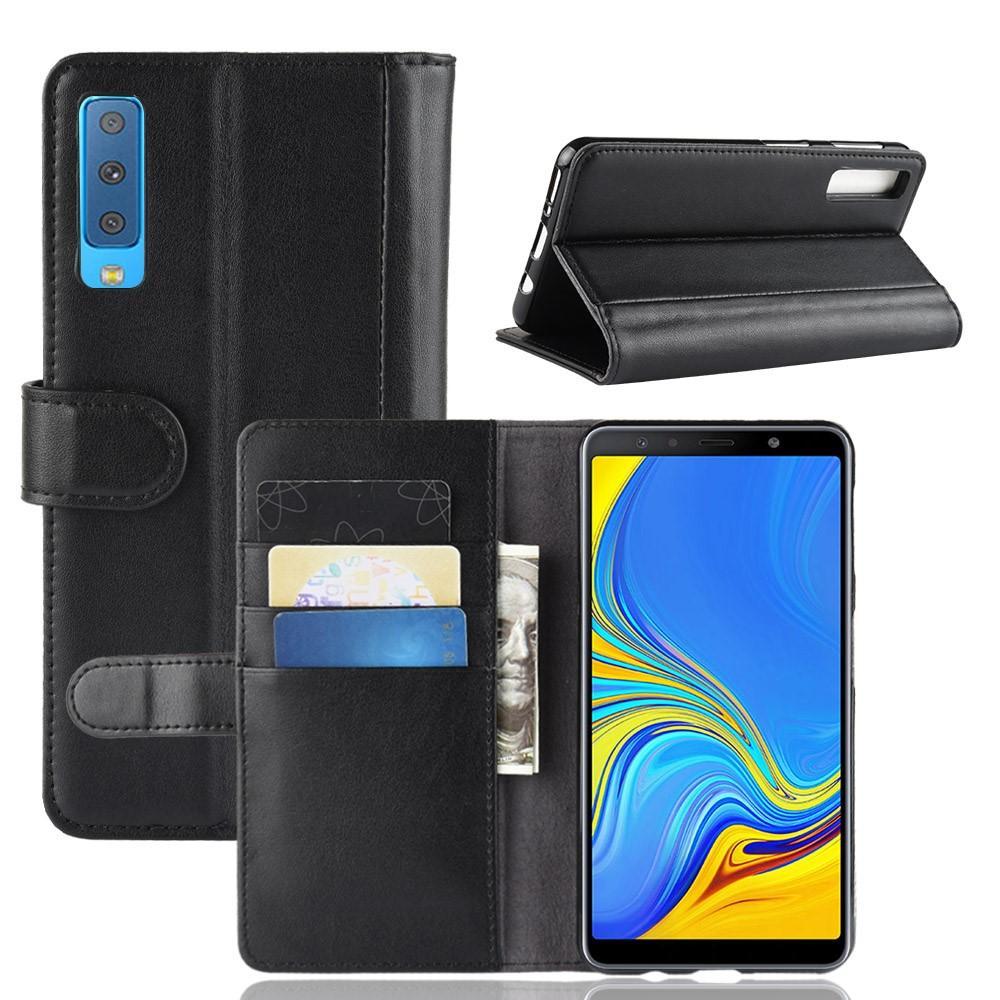 Aito Nahkakotelo Samsung Galaxy A7 2018 musta