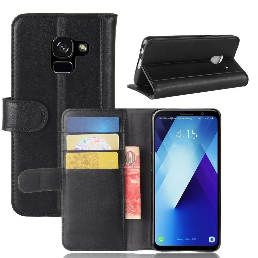 Aito Nahkakotelo Samsung Galaxy A8 2018 musta