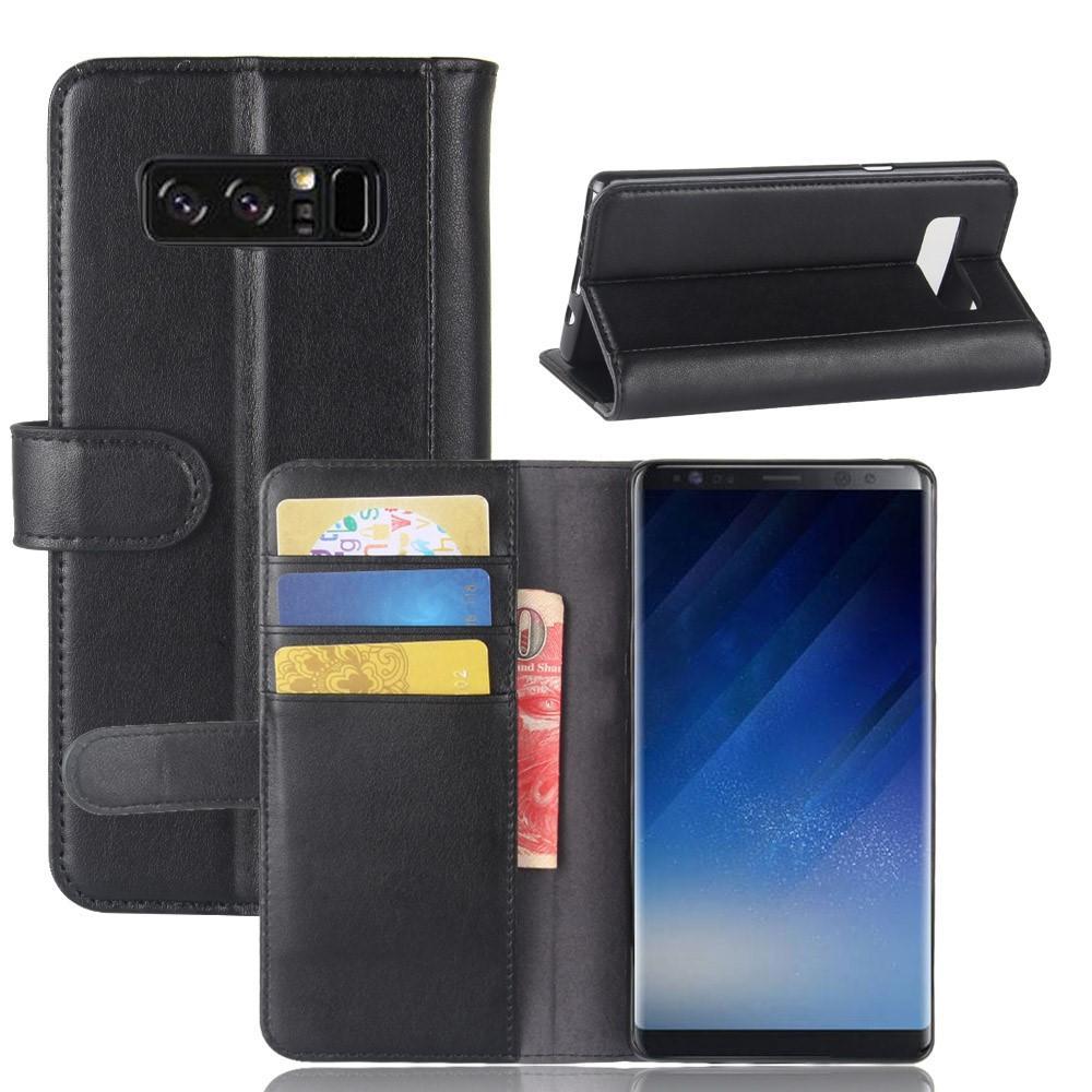 Aito Nahkakotelo Samsung Galaxy Note 8 musta