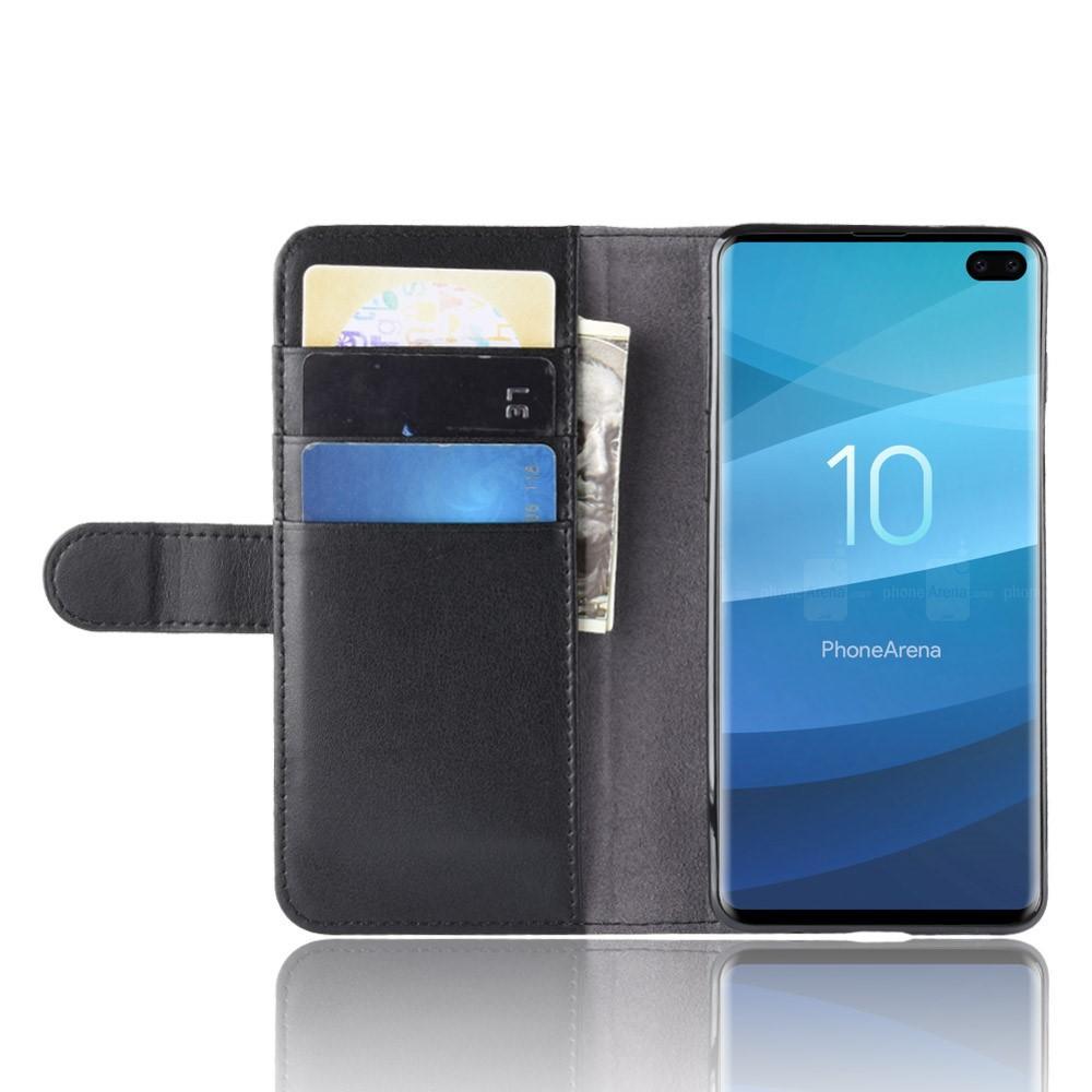 Aito Nahkakotelo Samsung Galaxy S10 Plus musta