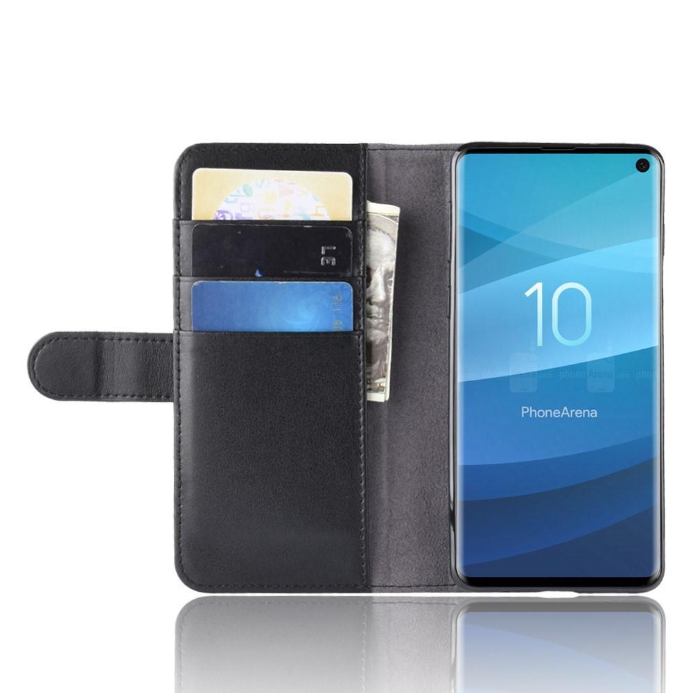 Aito Nahkakotelo Samsung Galaxy S10 musta