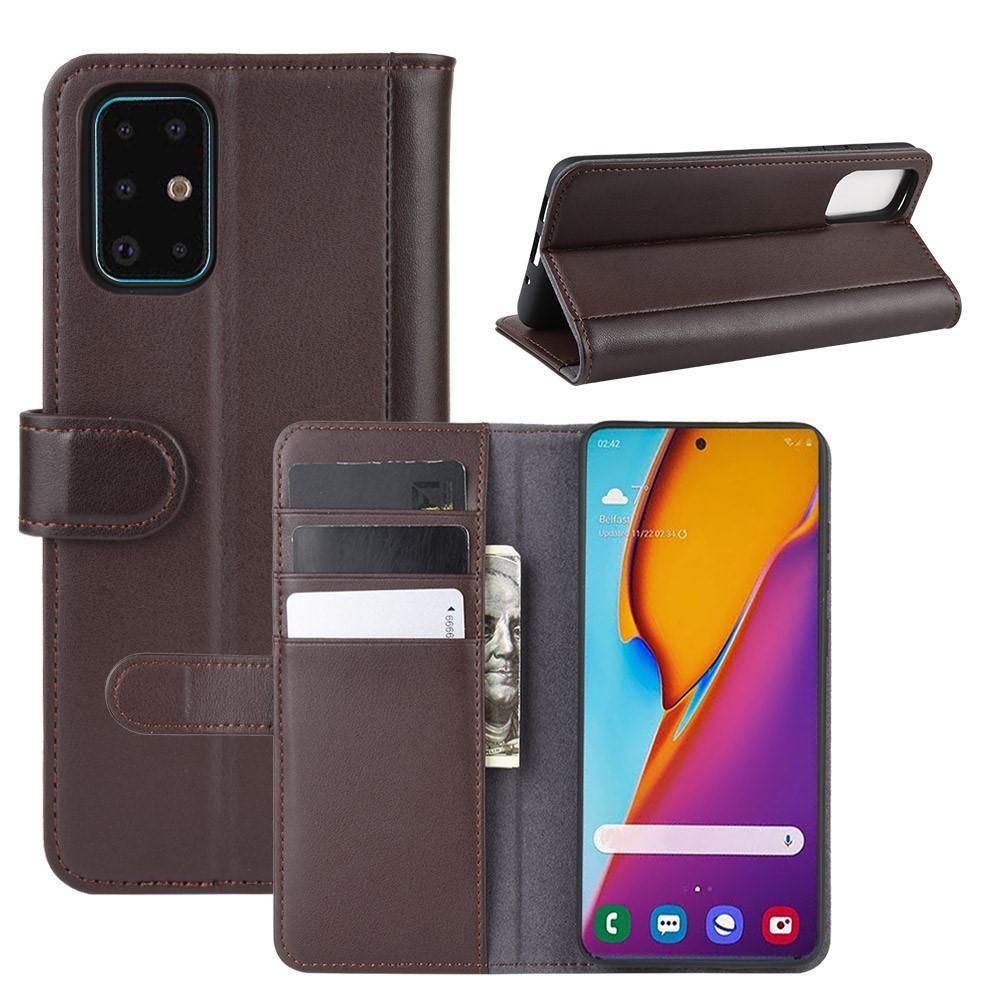 Aito Nahkakotelo Samsung Galaxy S20 Plus ruskea