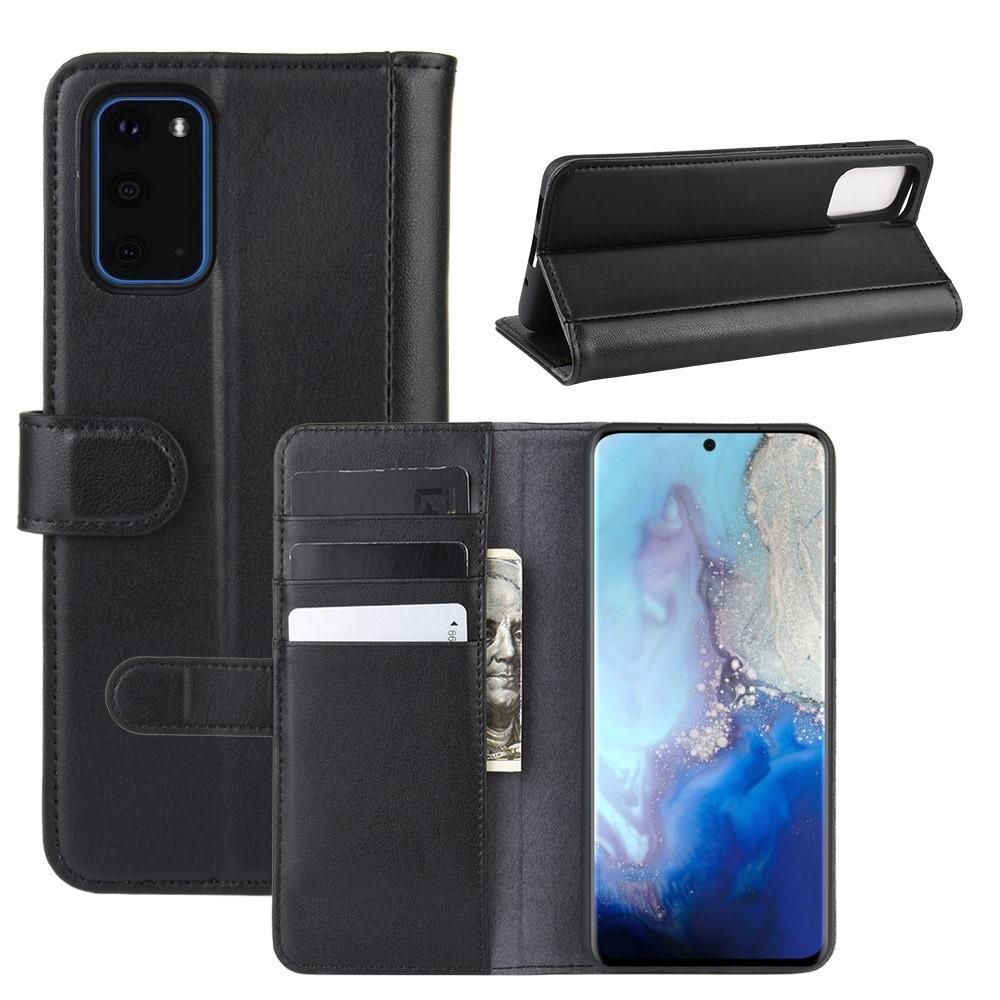 Aito Nahkakotelo Samsung Galaxy S20 musta