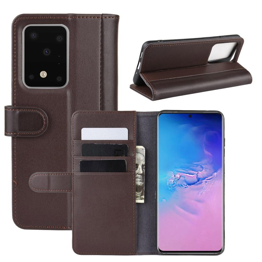 Aito Nahkakotelo Samsung Galaxy S20 Ultra ruskea