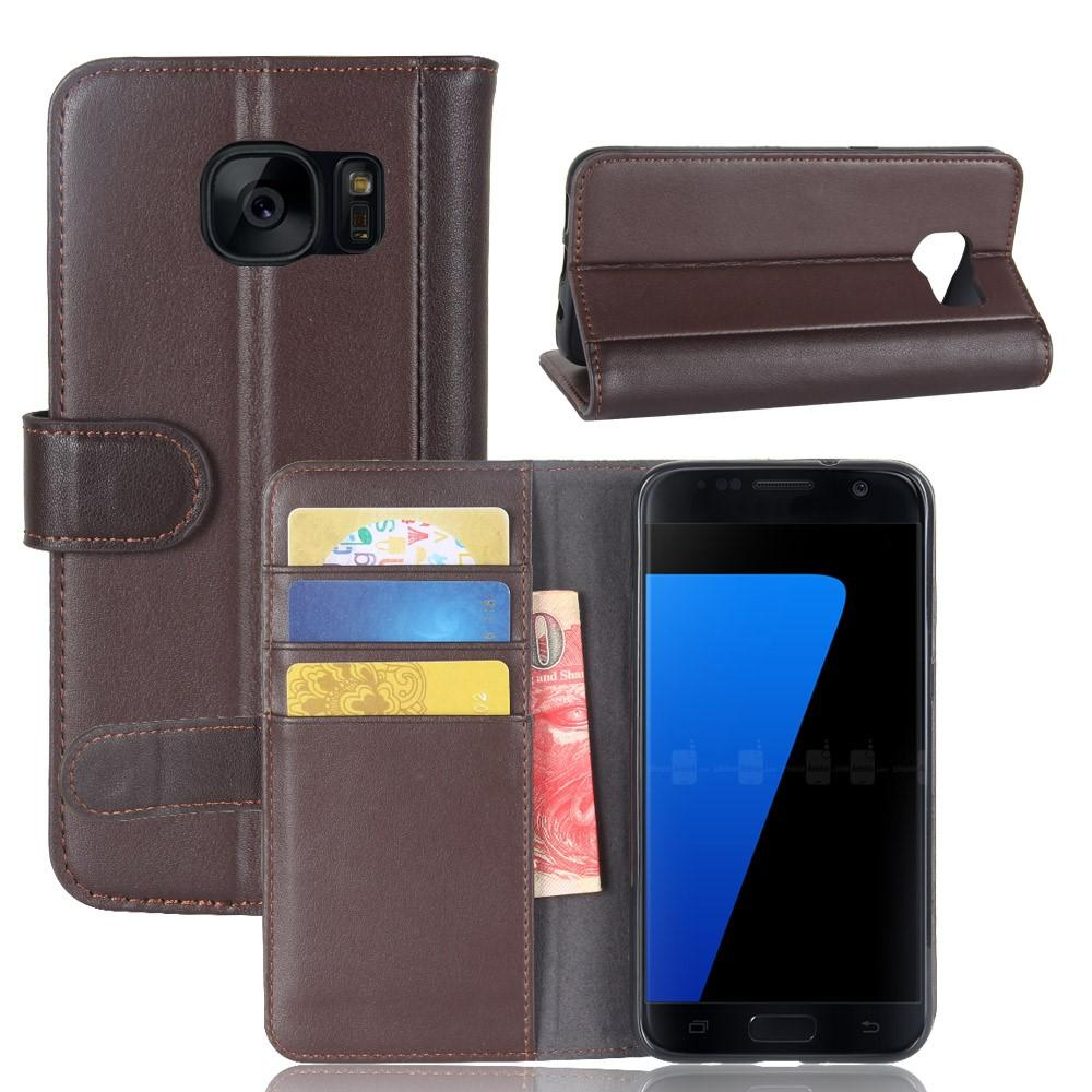Aito Nahkakotelo Samsung Galaxy S7 ruskea