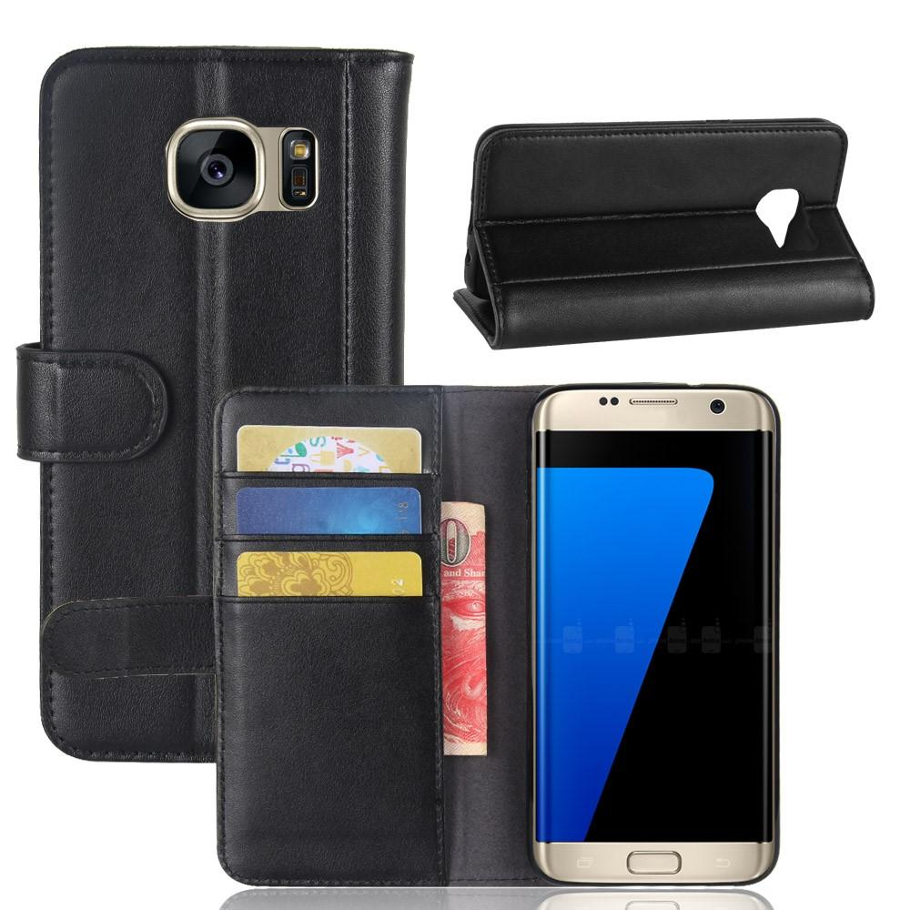 Aito Nahkakotelo Samsung Galaxy S7 Edge musta