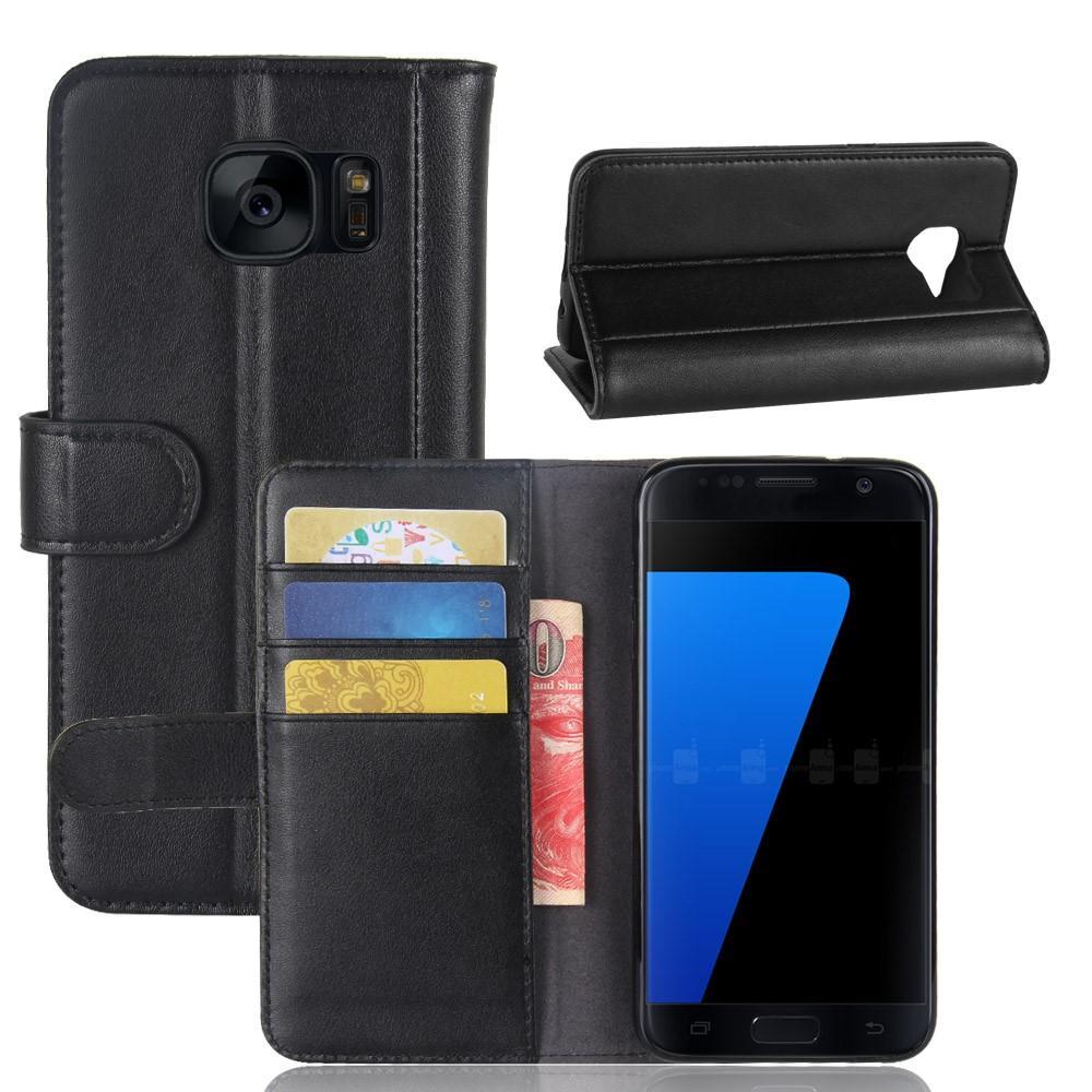 Aito Nahkakotelo Samsung Galaxy S7 musta
