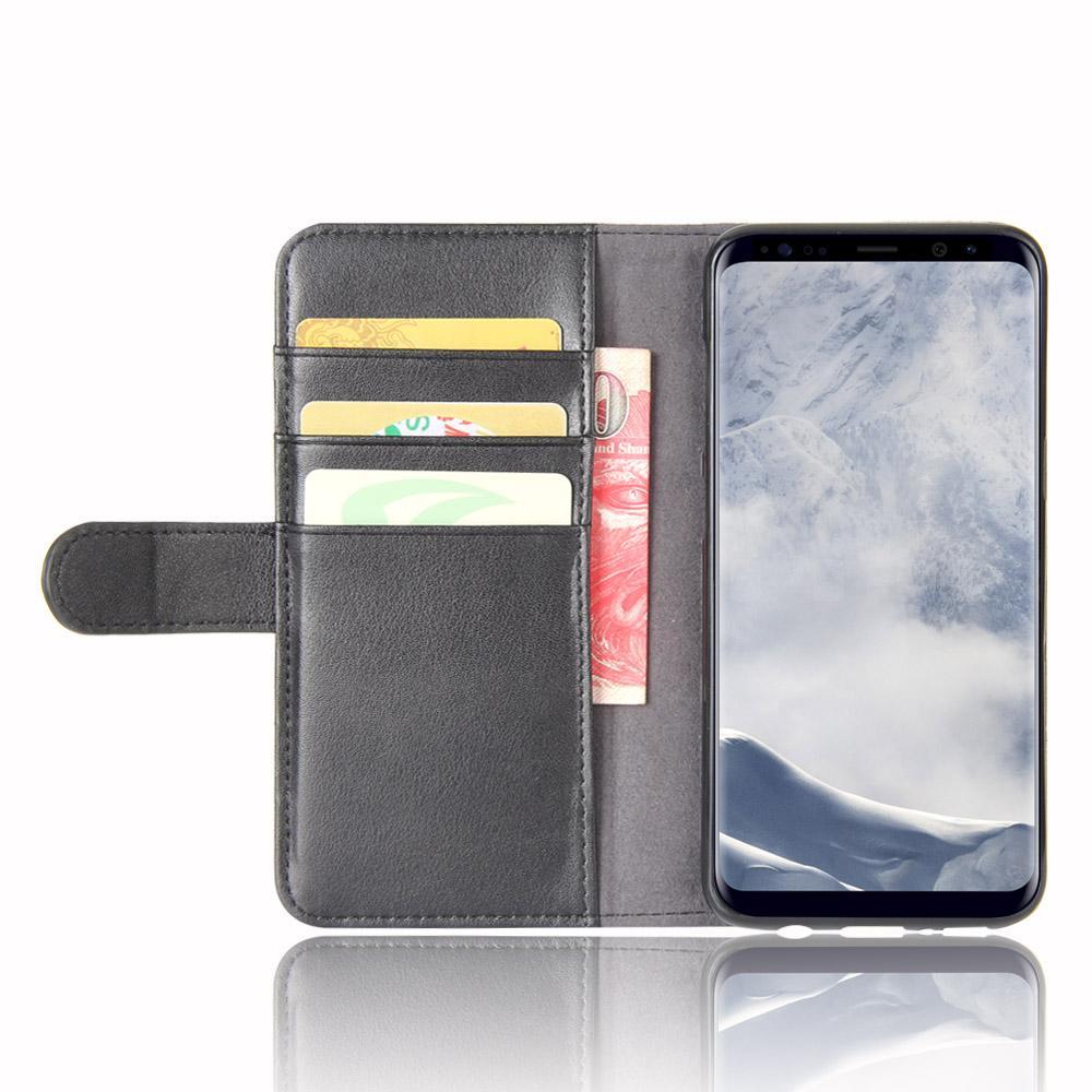 Aito Nahkakotelo Samsung Galaxy S8 Plus musta