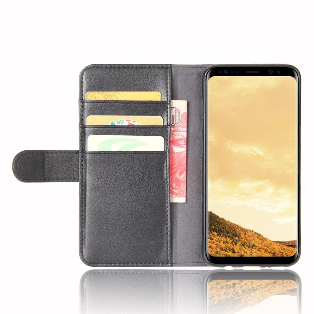 Aito Nahkakotelo Samsung Galaxy S8 musta