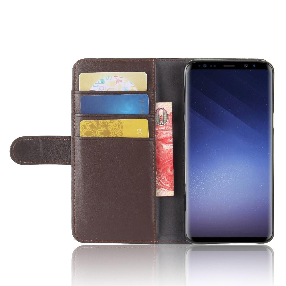 Aito Nahkakotelo Samsung Galaxy S9 ruskea