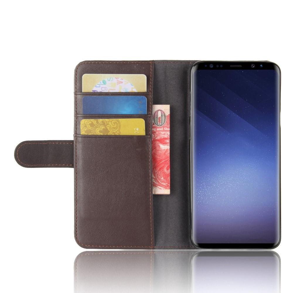 Aito Nahkakotelo Samsung Galaxy S9 Plus ruskea