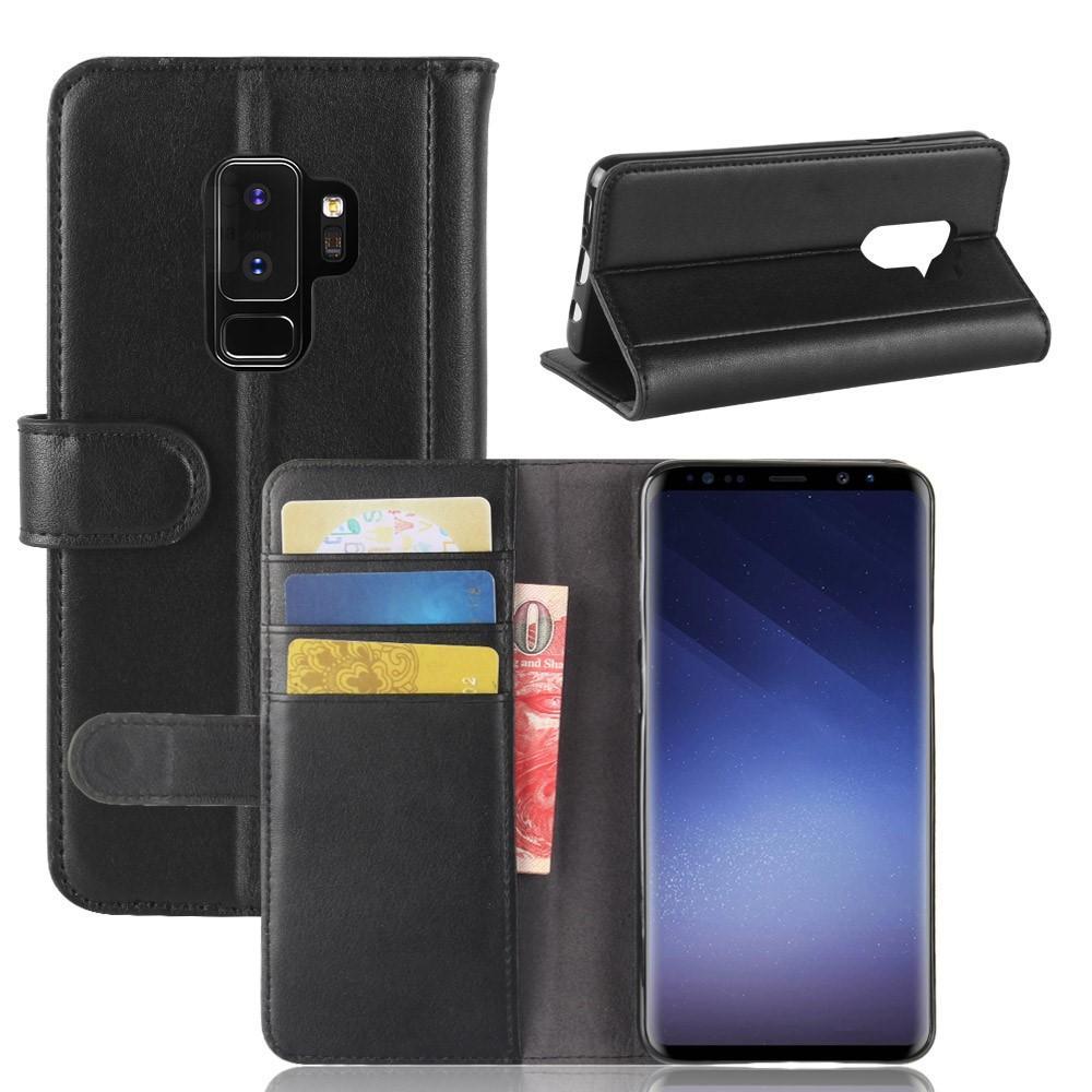 Aito Nahkakotelo Samsung Galaxy S9 Plus musta