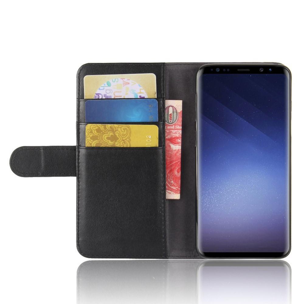 Aito Nahkakotelo Samsung Galaxy S9 musta