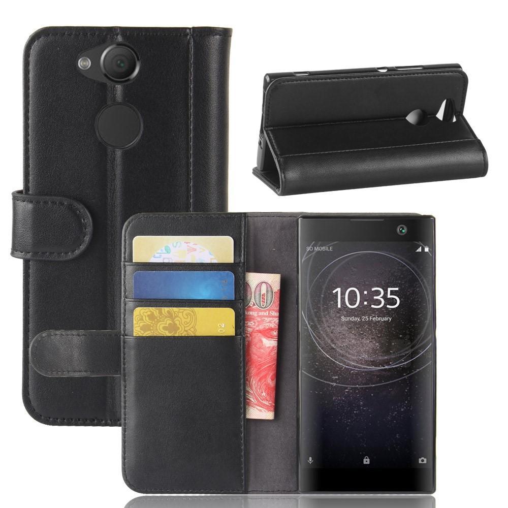 Aito Nahkakotelo Sony Xperia XA2 musta