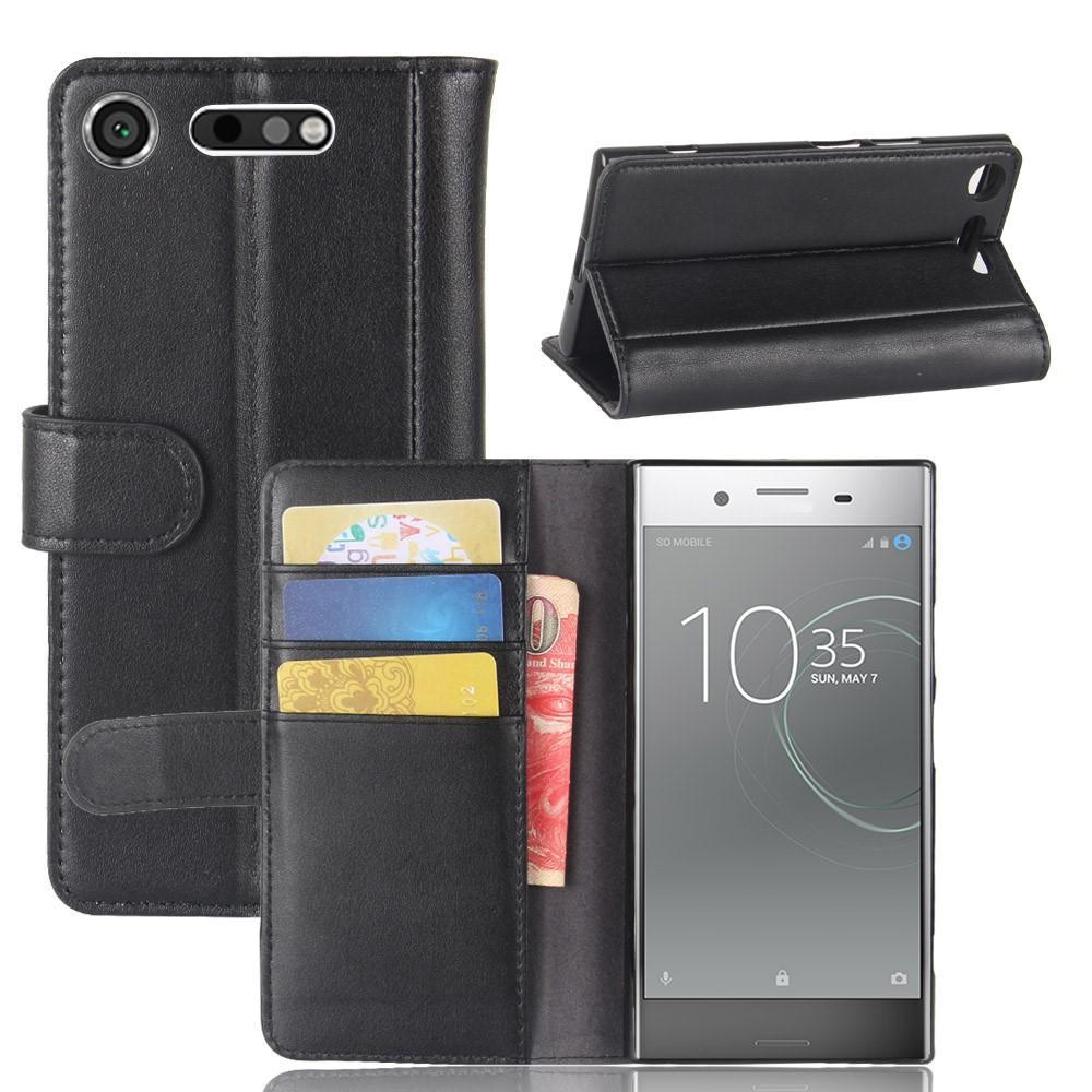Aito Nahkakotelo Sony Xperia XZ1 musta