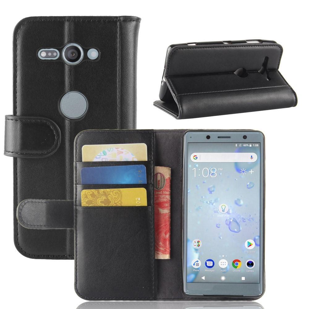 Aito Nahkakotelo Sony Xperia XZ2 Compact musta