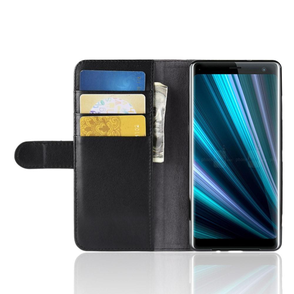 Aito Nahkakotelo Sony Xperia XZ3 musta