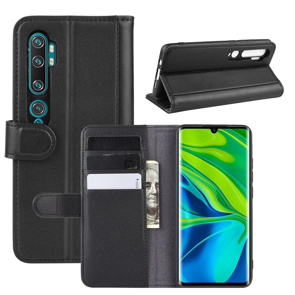 Aito Nahkakotelo Xiaomi Mi Note 10/10 Pro musta
