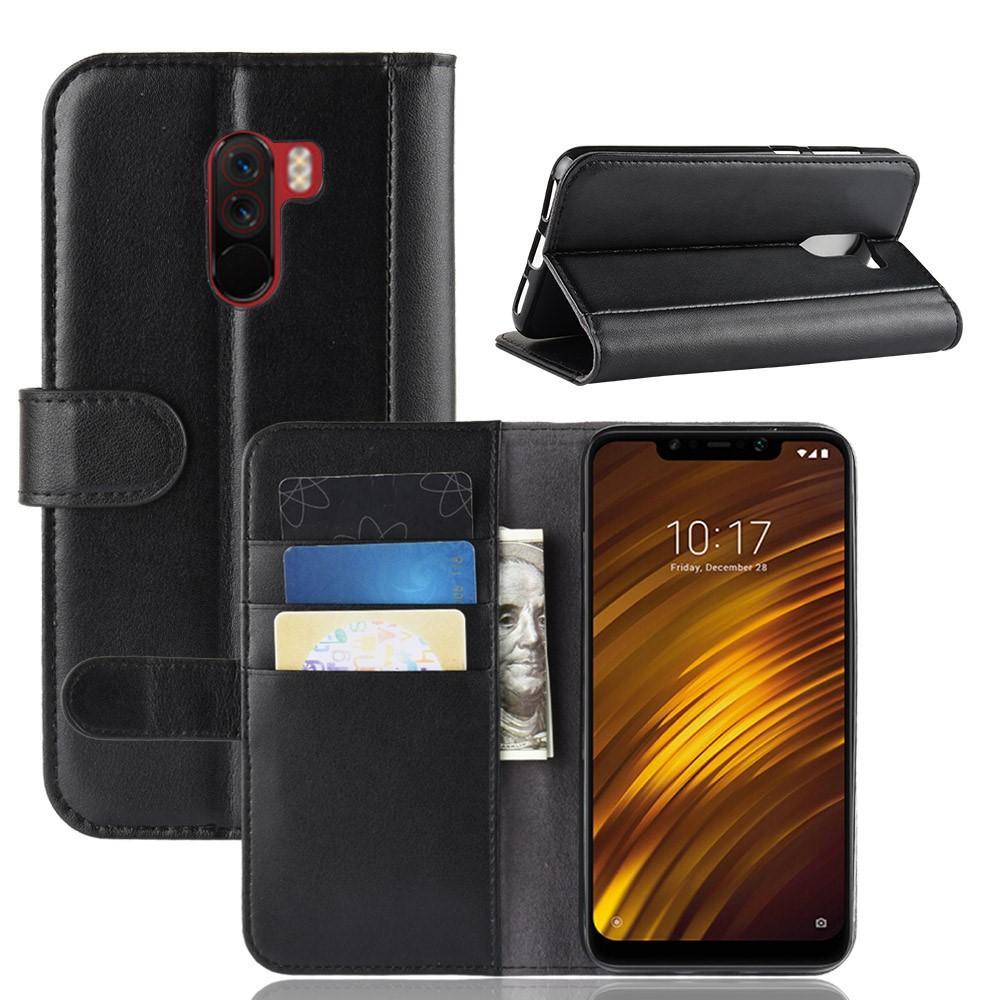 Aito Nahkakotelo Xiaomi Pocophone F1 musta