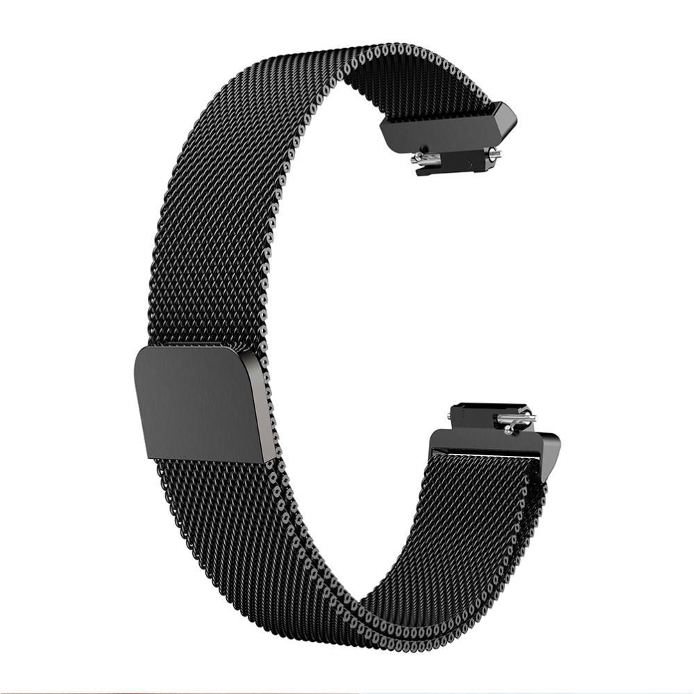 Ranneke Milanese Fitbit Inspire/Inspire HR/Inspire 2 musta