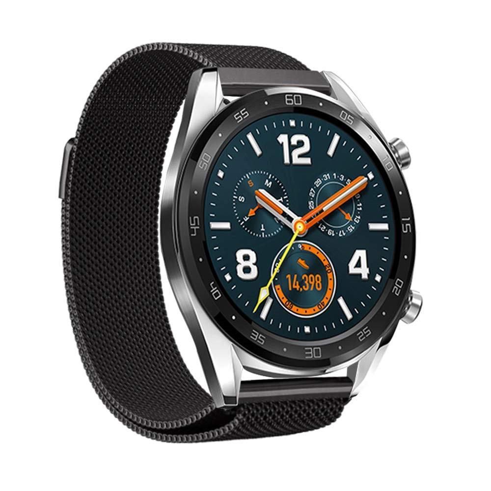 Ranneke Milanese Huawei Watch GT/GT 2 46mm/GT 2e musta