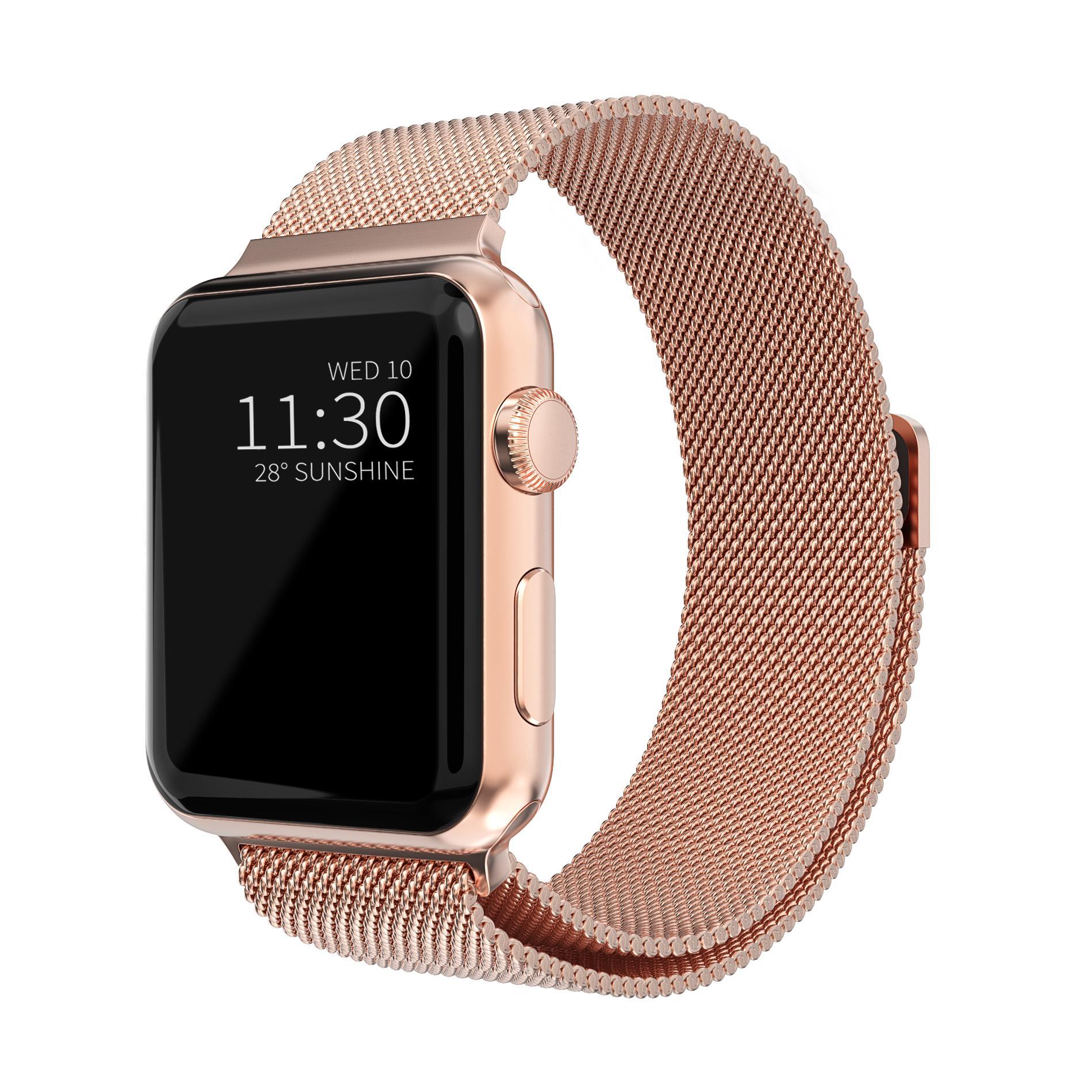 Ranneke Milanese Loop Apple Watch 38/40/41 mm ruusukulta